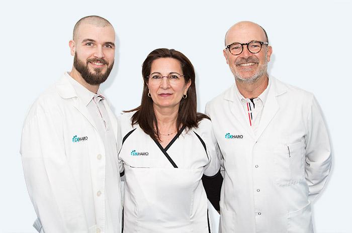 equipo-clinica-de-haro-podologo-almeria